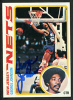 George Johnson #55 signed autograph auto 1978-79 Topps Basketball Trading Card
