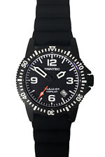 Trintec Aviation ZULU-01 Co-Pilot Men's Black Steel Watch with Rubber Band