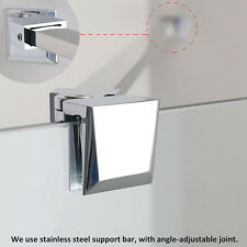 Stainless Steel Support Bar Walk in Wet Room Shower Screen Panel Glass