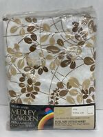 Vintage 70's Sears Medley Garden Full Size Fitted Sheet Percale Sheet NOS