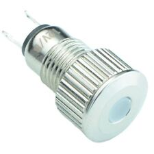 Azul Vandal RESISTENTE 8mm metal Led indicador IP65