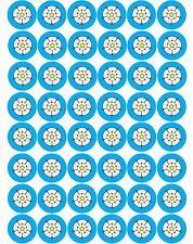 48 x Yorkshire Rose Flags Pre Cut Cupcake Toppers Premium Sugar Icing Sheet