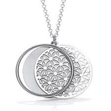 J JAZ  Florelle Sterling Silver Three Circles Round Pendant Necklace