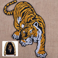 Large Mountain Tiger Embroidered Sew Iron on Cloth Jeans Coat Patch Badge Crafts