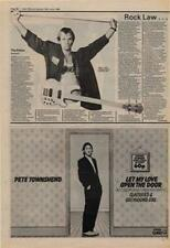 Pete Townshend Let My Love Open The Door The Who Advert NME Cutting 1980