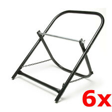 6 Pack Lot Portable Steel Folding Cable Caddy Reel Spool Holder Tube Wire Puller