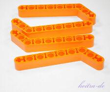 LEGO Technik - 4 x Liftarm dick, 1x9 ( 7 auf 3 )  orange / 32271 NEUWARE