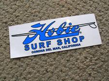 Hobie surf shop surfboards surfboard surfing decal longboard corona del mar cali