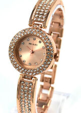 Henley DESIGNER Ladies Rose Gold Tone Dress Watch Sparkly Crystals Gift Idea