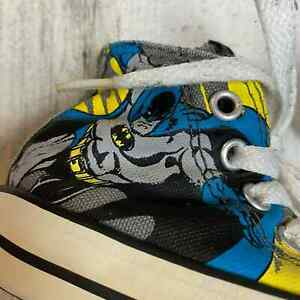 Converse All Star DC Comics Batman The Dark Night Toddler Size 4 High Top Shoes