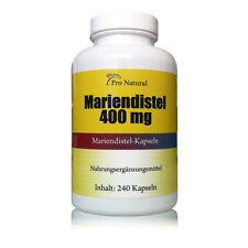 Top Angebot : Pro Natural Mariendistel 400mg ( 320mg Silymarin ) 240 Kapseln