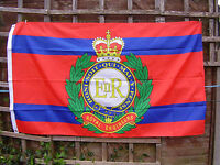Royal Engineers RE Army Beret/Cap Badge On TRF/Stable Belt Colours Military Flag
