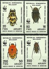 MADAGASCAR INSECTES SCARABEES COLEOPTERES BEETLES INSECTS KÄFER ** 1988 WWF RARE