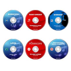 PRO MUSIC PRODUCTION SOFTWARE EDITING, MIXING, RECORDING - 6 PROGRAMS PC BUNDLE