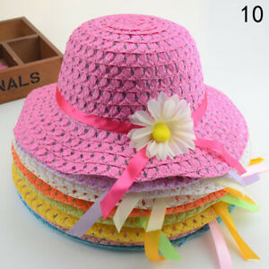 Summer Baby Kids Boy Girls Hat +Bags Summer Children Breathable Hat Straw Hats