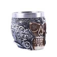Skull Gothic Wine Goblet Beer Mug Striking Tankard Viking Drinking Cup #2