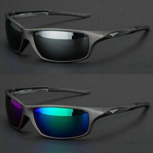 NEW Polarized Men Sport Sunglasses Driving Pilot Fishing Eyewear Wrap Glasses US
