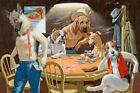 Dogs Playing Poker Oil Painting Wall Art Picture Printed On Canvas Reproduction