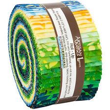 Kaufman Batik Fabric Strips Jelly Roll Rollup, Lunn Studios Sunny Day, RU-827-40