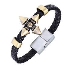 Anime Naruto Shuriken Swordhand Black Bangle Bracelet Cosplay Wristband