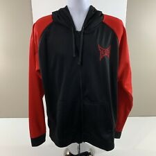 TapOut  Boxing Hoodie Jacket XL Front FULL Zipper Long Sleeve Black  Red MMA UFC
