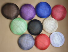 """5.5"""" Round Sinamay Button Fascinator Millinery Hat Base Making Material B068"""