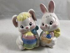 Lot Of 2 Vintage Brinn's Easter Bunny Porcelain Figurines