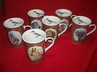 Lynn Chase China African Portraits FULL Set of 6 Mugs     NEW