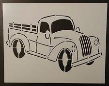 "Old Vintage Truck #2 - 11"" x 8.5"" Custom Stencil FAST FREE SHIPPING"