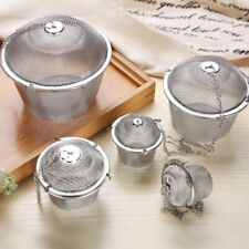 5 Sizes Stainless Steel Tea Ball Spice Herbal Strainer Mesh Infuser Filter Bag .
