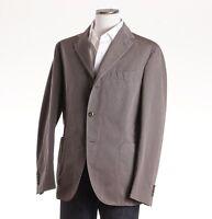 NWT $1175 BOGLIOLI Stone Beige-Gray Woven Cotton-Linen Sport Coat 46 R (Eu 56)
