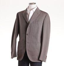 NWT $1175 BOGLIOLI Stone Beige-Gray Woven Cotton-Linen Sport Coat 38 R (Eu 48)