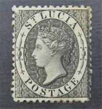 Nystamps britische St. Lucia Stempel # 7 postfrisch OG H s17y3230