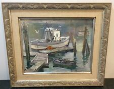 *Original* Signed Framed George Cherepov Oil Painting on Canvas 1970's Nautical