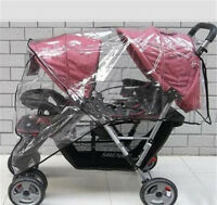 TWIN BABY Stroller Cart Universal Pushchair DOUBLE Rain Cover Dust Wind Shiel_wu