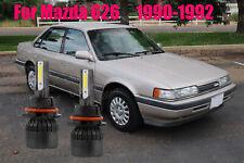 LED For Mazda626 1990-1992 Headlight Kit 9004 HB1 6000K White Bulbs Hi-Low Beam