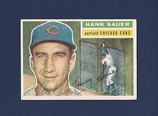 Hank Sauer signed Chicago Cubs 1956 Topps baseball card (white back)