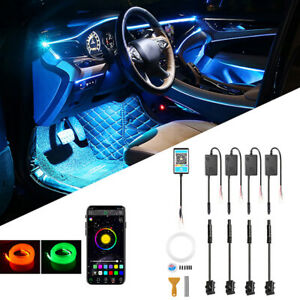 5M RGB LED Car Interior Lamp Ambient Light Strips App Control For Mercedes Benz