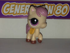 Littlest PetShop Poney Creme Criniere Rose N°1512 Pet Shop Horse Pony Cheval