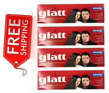 4 X Schwarzkopf Glatt Strong Hair Straightener Straightening Cream Keratin-Care