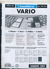 25 LIGHTHOUSE VARIO 2ST BLACK STOCK SHEETS 5 PACKAGES OF 5