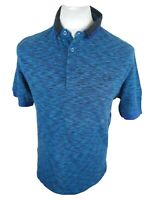 Rare Mens Fred Perry Polo Shirt Neon Blue Medium 40 Chest Vgc