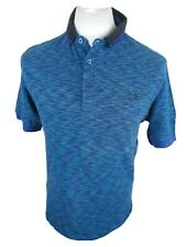Rare Mens Fred Perry Polo Shirt Neon Blue Medium 40 Chest Vgc