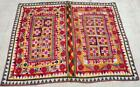 """74"""" x 56"""" Vintage Rabari Throw Embroidery Ethnic Tapestry Tribal Wall Hanging"""