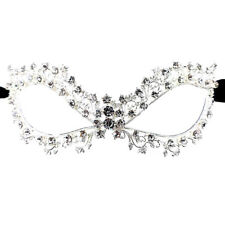 Women's Crystal Glass, Rhinestone Leaf Vine Royal Venetian Masquerade Eye Mask
