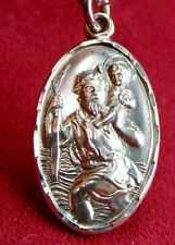 Carmelite Nun Luisa St. Christopher 1965 Hand Engraved Sterling Silver Medal