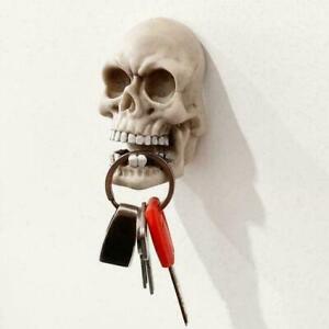 Wall Hook Decorative Resin Skull Head Shaped Wall Hanger Door T2L6 N6P2