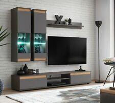 Wohnwand Modo mit Beleuchtung Wohnzimmer-Set Wohnmöbel Schrankwand Modern