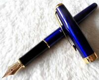Excellent Parker Pen Sonnet Series Blue/Gold Clip 0.5mm Medium Nib Fountain Pen