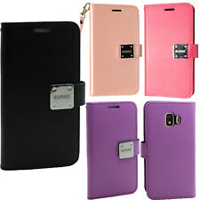 For Samsung Galaxy J2 Core Premium Flip Out Pocket Wallet Case Pouch Phone Cover